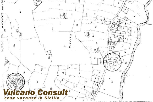 estratto mappa villa pirrera