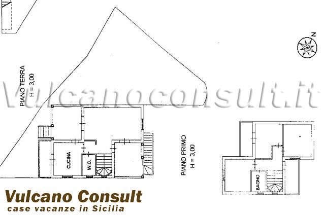 Vendesi villetta a schiera localit pianoconte lipari id8430 for Pianta villetta a schiera