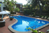 villa con piscina vulcano