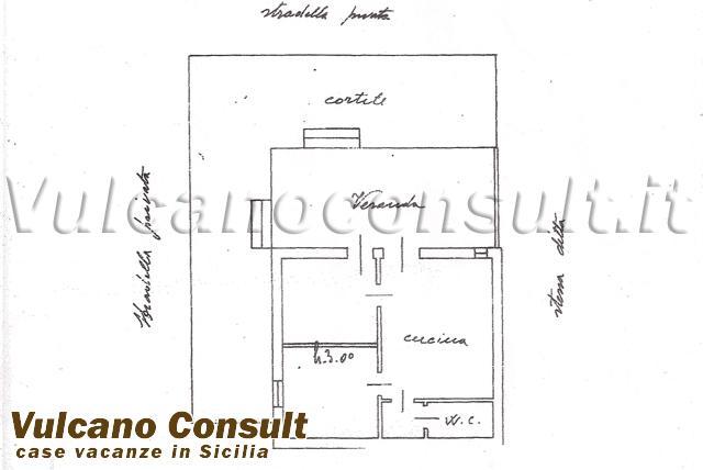 Vendesi casetta a schiera vulcano porto vulcano id9066 for Planimetria di cottage calabash