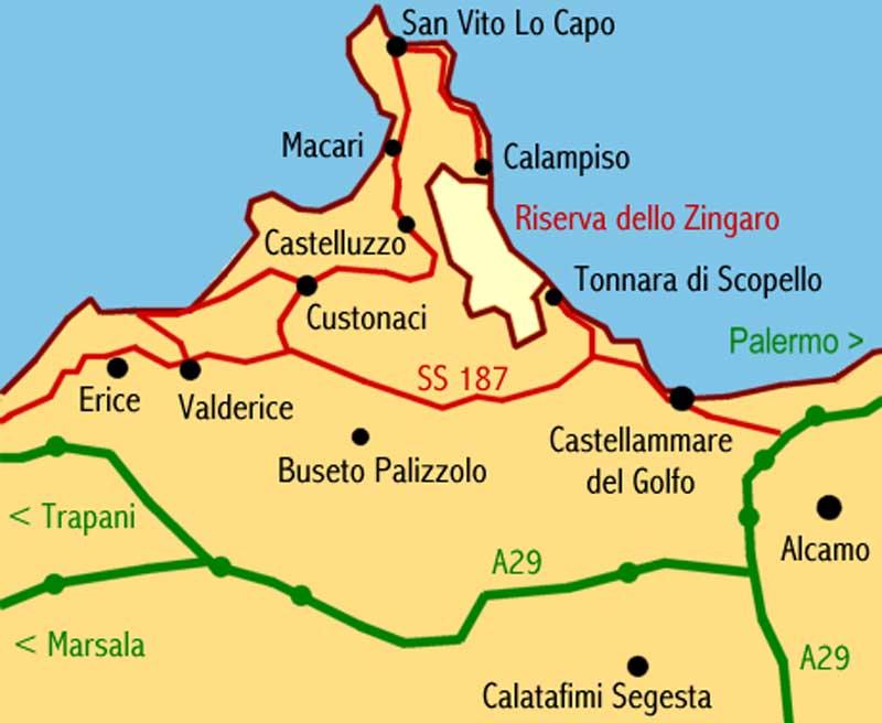 Sicilia Cartina San Vito Lo Capo.Cous Cous Festival San Vito Lo Capo Settembre Cartina Di San Vito Lo Capo Id210